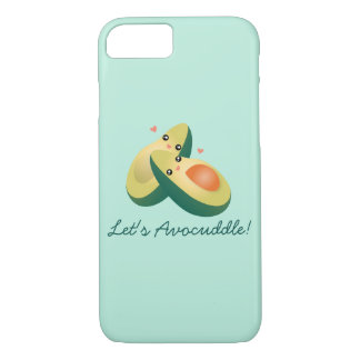 Let's Avocuddle Funny Cute Avocados Pun Humor iPhone 8/7 Case