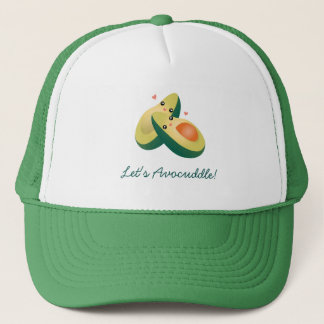 Let's Avocuddle Funny Cute Avocados Pun Humor Trucker Hat