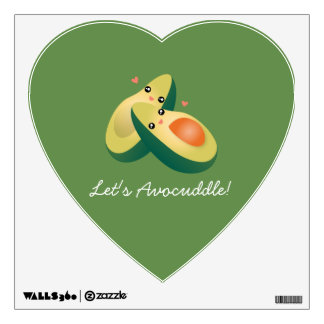 Let's Avocuddle Funny Cute Avocados Pun Humor Wall Sticker