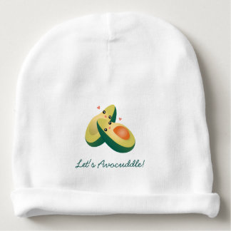 Let's Avocuddle Funny Cute Avocados Unisex Baby Beanie