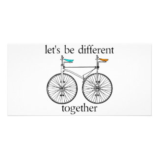 Let's Be Different Together Picture Card