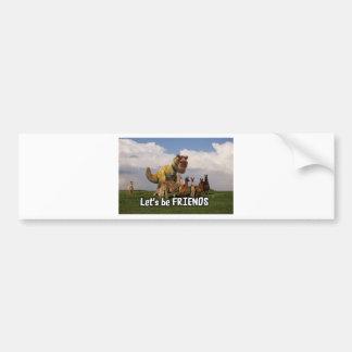 Lets be Friends Bumper Sticker