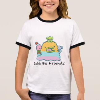 Let's Be Friends Girl's Ringer T-Shirt