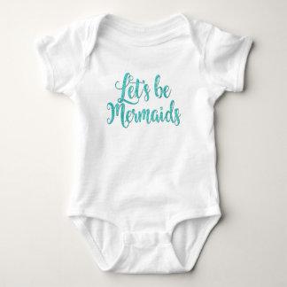 Let's be Mermaids infant bodysuit Teal