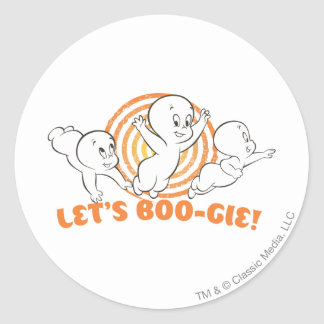 Let's Boo-gie Round Sticker