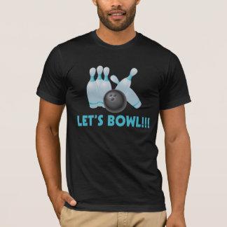 Let's Bowl Bowling Ball & Pins T-Shirt