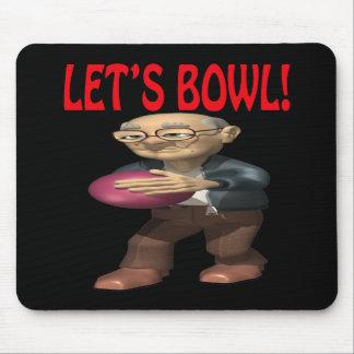 Lets Bowl Mouse Pad