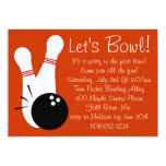 "Let's Bowl Party Invitation 5"" X 7"" Invitation Card"