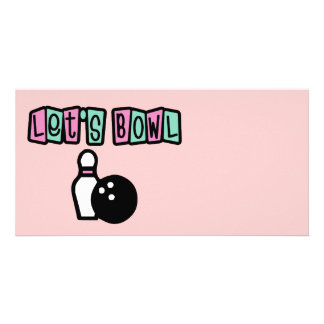 Let's Bowl! Personalized Photo Card