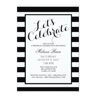 Let's Celebrate Birthday Invitation