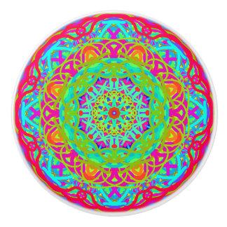 Let's Celebrate Colorful Mandala Furniture Knob