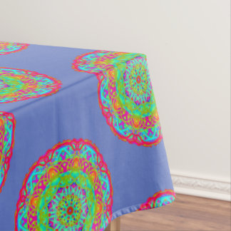 Let's Celebrate Colorful Mandala Tablecloth