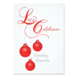 "Let's Celebrate Holiday Brunch 5"" X 7"" Invitation Card"