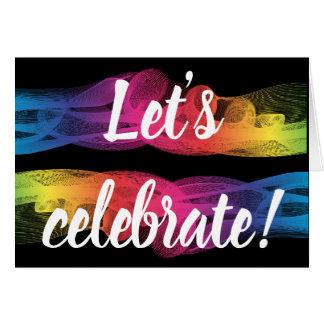 Let's Celebrate invite invitation card