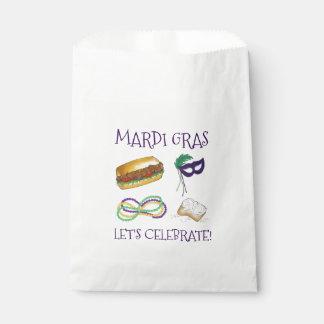 Let's Celebrate Mardi Gras Beignet Beads NOLA Favour Bag