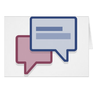 Let's chat on facebook card