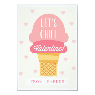 Lets Chill Valentine Card