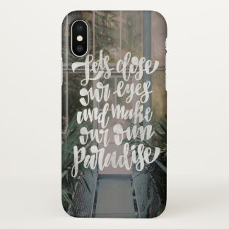 lets close our eyes iPhone x case