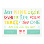 Let's Count Down New Year's Eve Party Invitation Personalized Invitations
