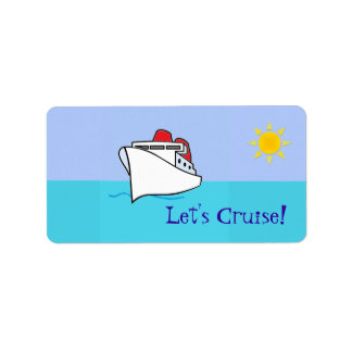 Let's Cruise Bag Tag Label