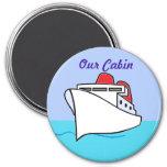 Let's Cruise Cabin Door Marker 3 Inch Round Magnet