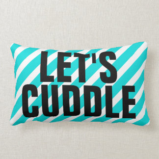 Let's Cuddle - Bold Striped Throw Pillow
