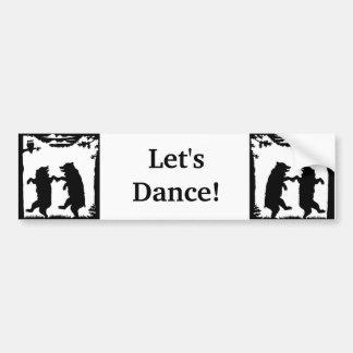 Lets Dance Black Bears in Woods Under Trees Bumper Sticker