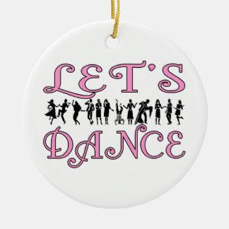 Let's Dance Dancing Couples Ceramic Ornament