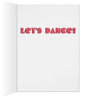 Let's Dance Puffin Card