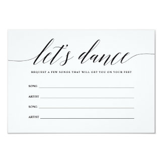 Let's Dance Song Request Card