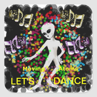 Let's Dance Square Sticker