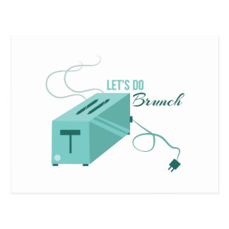 Lets Do Brunch Postcard