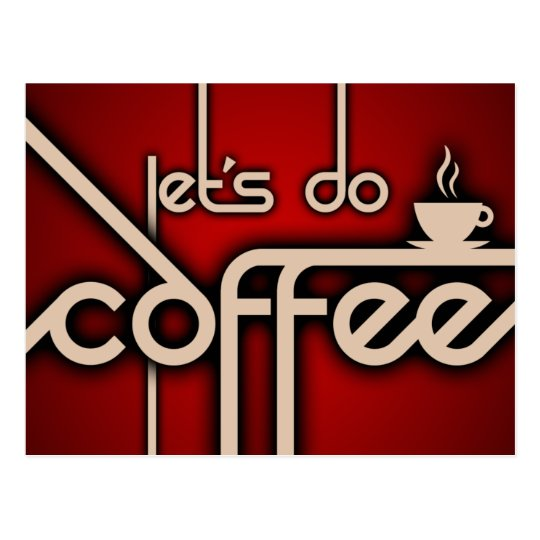 let's do coffee! postcard