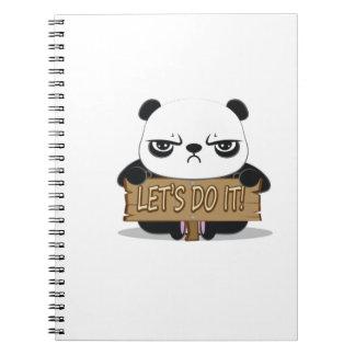 """Let's Do It!"" Panda Spiral Notebook"