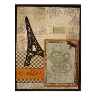 Lets Do Lunch Eiffel Tower Postcard
