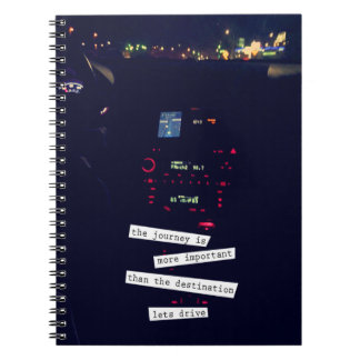 Lets Drive Spiral Notebook