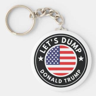 Let's Dump Donald Trump Basic Round Button Keychain