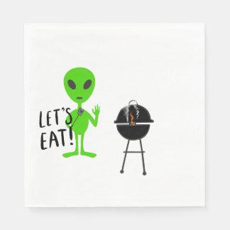 Let's Eat! Alien Napkin