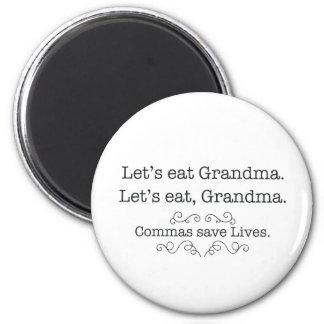 LET'S EAT GRANDMA COMMAS MAGNET