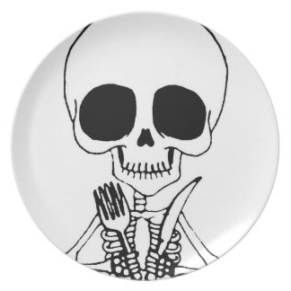 Let's Eat Hungry Skull plate