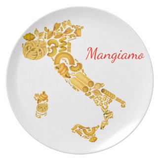 Let's Eat - Italian Pasta Platter Dinner Plates