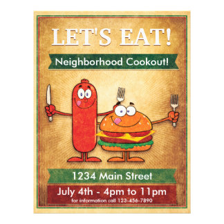 Let's Eat! Neighborhood Cookout Full Colour Flyer