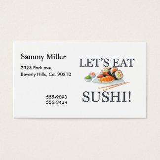 Let's Eat Sushi Business Card