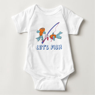 Let's fish Baby tee