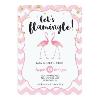 Let's Flamingle Birthday Invitation