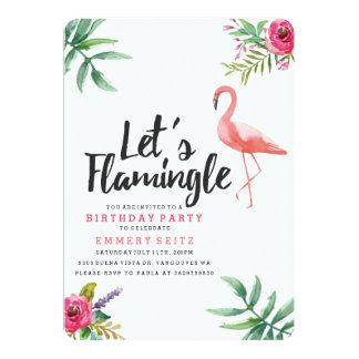 Let's Flamingle Birthday Party Invitation