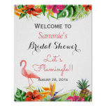 Let's Flamingle Flamingo Bridal Shower Sign