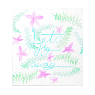 Lets fly away notepad