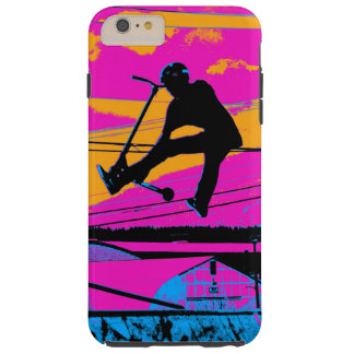 """""""Lets Fly!""""  High Flying Scooter Tough iPhone 6 Plus Case"""