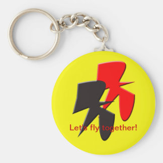 Let's fly together Keychain